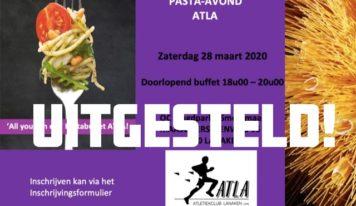 UITGESTELD – ATLA PASTA-AVOND