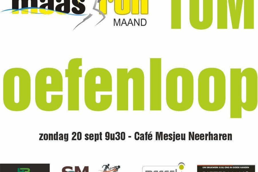 September 2020 – Maasrun oefenloop!