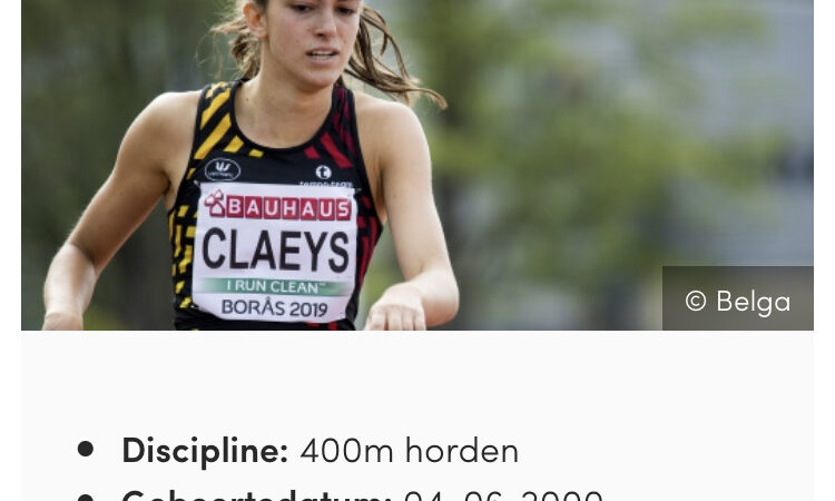 Eliteselectie VAL: Eline Claeys!